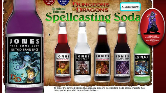 Jones Soda's D&D set