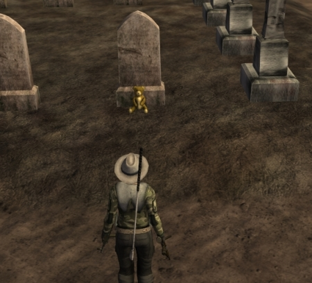 I came upon this poignantly sad gravestone in Fallen Earth... it's little touches like these that tell a greater story