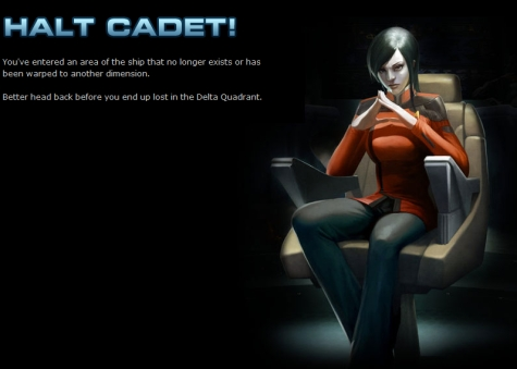 "Star Trek Online website's ""wrong page"" screen"